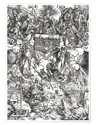 Premium poster Seven angels with trumpets