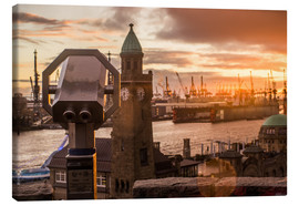 Canvas print  Jetties Elbe Hamburg harbor - Dennis Stracke