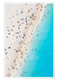 Premium poster  Greek beach in summer - Matteo Colombo