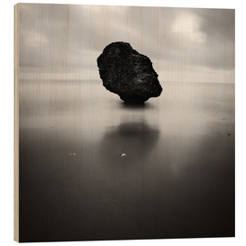 Wood print  Rock on Batsheba beach - Matteo Colombo