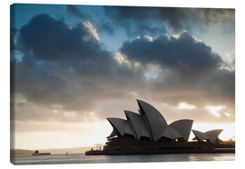 Canvas print  Famous Sydney Opera House at sunrise, Australia - Matteo Colombo