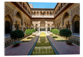 Acrylic print  Court of the virgins in the Alcazar - Matteo Colombo