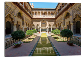 Alu-Dibond  Court of the maidens in the Alcazar of Seville, Andalusia, Spain - Matteo Colombo