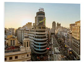 Forex  Gran via at sunset, Madrid, Spain - Matteo Colombo