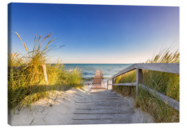 Canvas print  Pier into the ocean Baltic - Dennis Stracke