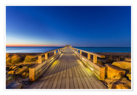 Premium poster Kellenhusen pier at dawn Baltic