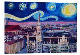 Acrylic print  Starry Night in Munich - M. Bleichner