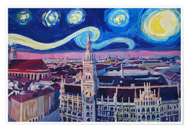 Poster  Starry Night in Munich - M. Bleichner