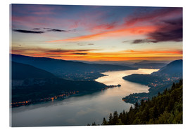 Acrylic print  Colorful Sunset Annecy - Sander Grefte
