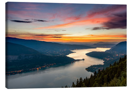 Canvas print  Colorful Sunset Annecy - Sander Grefte