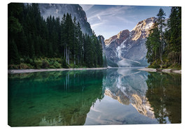 Canvas  Lago Di Braies, Dolomite Alps, Italy - Achim Thomae
