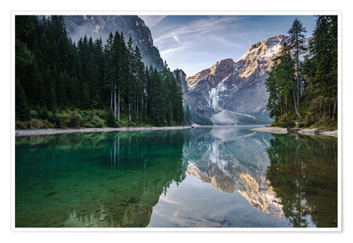 Lago Di Braies Dolomite Alps Italy Posters And Prints