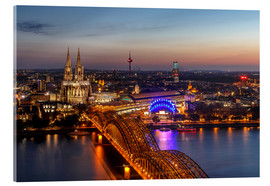 Acrylic glass  Cityscape Cologne Germany - Achim Thomae