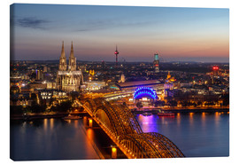Canvas print  Cityscape Cologne Germany - Achim Thomae