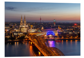Foam board print  Cityscape Cologne Germany - Achim Thomae