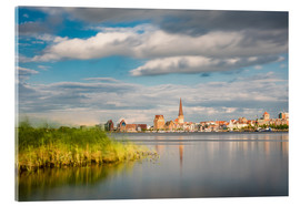 Acrylic glass  View over the river Warnow to Rostock (Germany) - Rico Ködder