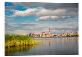 Foam board print  View over the river Warnow to Rostock (Germany) - Rico Ködder