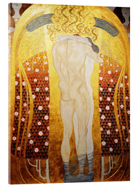 Acrylic print  Beethoven Frieze: Embracing couple - Gustav Klimt