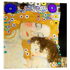 Acrylic print  Mother with child - Gustav Klimt