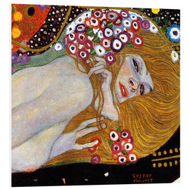 Foam board print  Water Serpents II (detail) - Gustav Klimt