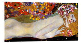 Acrylic glass  Water Serpents II (detail) - Gustav Klimt