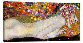 Canvas print  Water Serpents II (detail) - Gustav Klimt