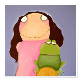 Premium poster The princess of frogs