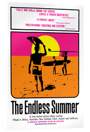Acrylic glass  The endless summer