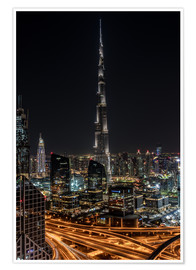 Poster  Dubai Skyline - United Arab Emirates - Achim Thomae