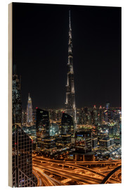 Wood  Dubai Skyline - United Arab Emirates - Achim Thomae