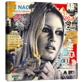 Canvas print  Brigitte Bardot is smoking hot - Michiel Folkers