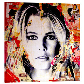 Acrylic print  Claudia Schiffer - Michiel Folkers