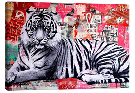 Canvas print  Street Art Tiger - Michiel Folkers