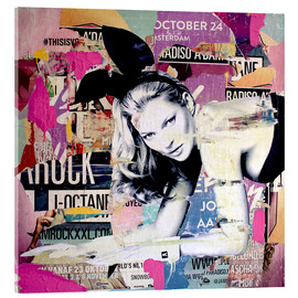 Acrylic print  Kate Moss is playin' bad bunny - Michiel Folkers