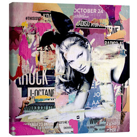 Canvas  Kate Moss is playin' bad bunny - Michiel Folkers