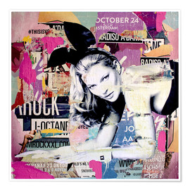 Premium poster  Kate Moss is playin' bad bunny - Michiel Folkers