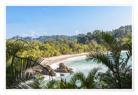 Premium poster Beach and tropical forest, Manuel Antonio National Park, Costa Rica