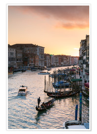 Premium poster Sunset over the Grand Canal in Venice, Italy