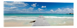 Acrylic print  Wooden jetty into the sea, Mexico - Matteo Colombo