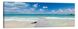 Canvas print  Wooden jetty into the sea, Mexico - Matteo Colombo