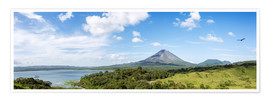 Premium poster  Panoramic of Arenal volcano and lake, Costa Rica - Matteo Colombo