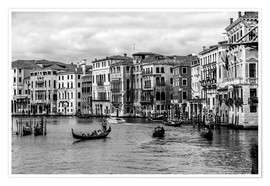 Premium poster  Venice black and white - Filtergrafia
