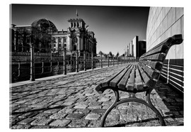 Acrylic print  Bank in Berlin Government District - Filtergrafia