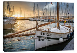 Canvas print  Historic sailboat in the port of Palma de Mallorca - Christian Müringer