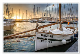 Premium poster  Historic sailboat in the port of Palma de Mallorca - Christian Müringer
