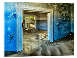 Acrylic glass  Sand in the premises of an abandoned house - Robert Postma