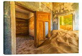 Canvas print  Sand in the premises of an abandoned house - Robert Postma