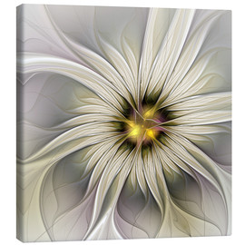 Canvas print  Fractal Flower in precious look - gabiw Art