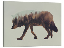 Canvas  Norwegian Woods The Wolf - Andreas Lie