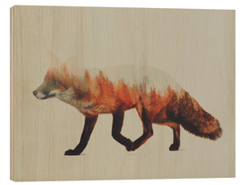 Wood print  Norwegian woods, The Fox - Andreas Lie